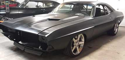 Dodge Challenger after being modified