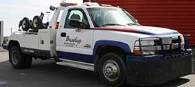 Brady's Service Center's tow truck